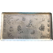 Wendell August Sweet Vintage Child's Alphabet Tray Embossed Decorations Educational
