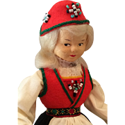Norwegian Ronnaug Petterssen Cloth Doll