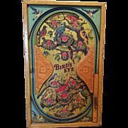 Children's Antique Bird's Eye Bagatelle Game Board
