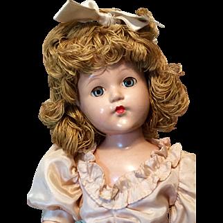 """18"""" All Original Effanbee Little Lady with Yarn Hair"""