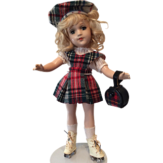 Mary Hoyer Composition in Original Plaid Outfit