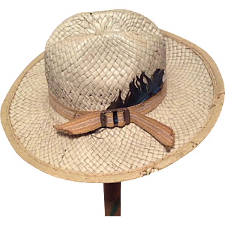Early Salesman Sample Straw Hat-Too Cute!!