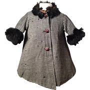Doll's Houndstooth Coat