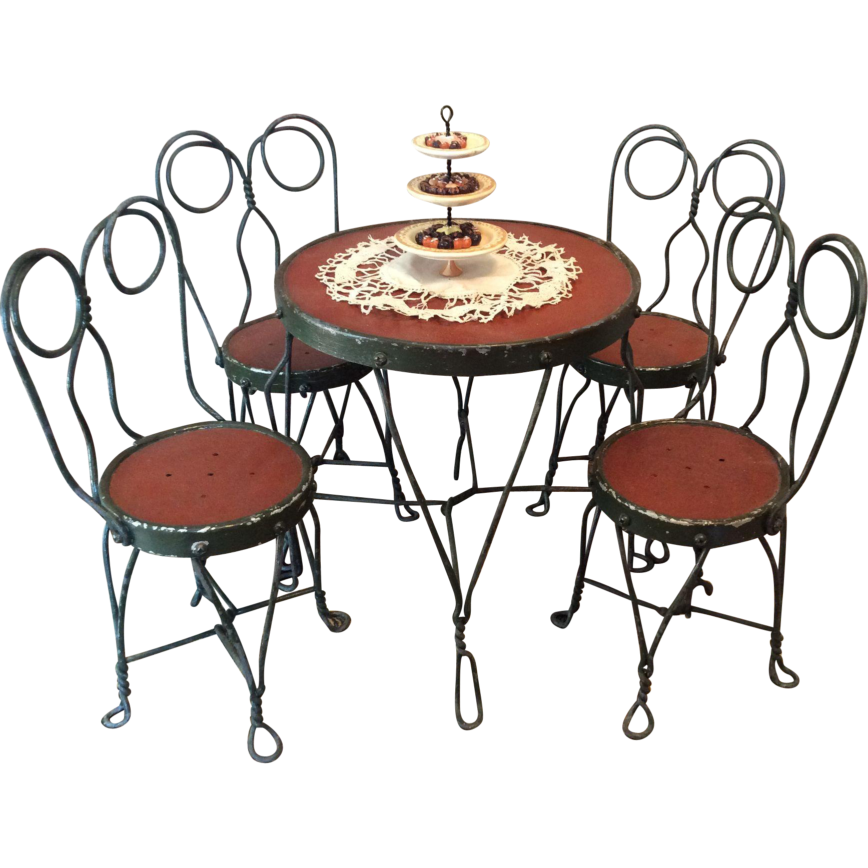 Ice cream parlor table and chairs great for schoenhuts