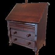 Slant Front Queen Anne Desk for French or German Bebe