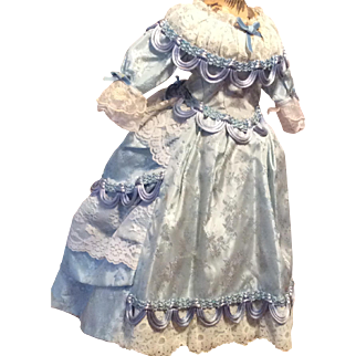 Elaborate Gown for German or French Doll