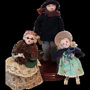 Vintage Cloth Dollhouse Dolls-Too Cute!