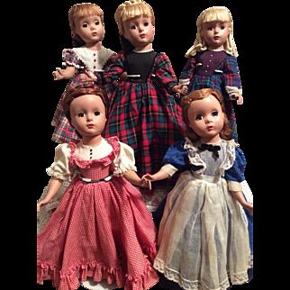 Vintage Set of Madame Alexander Little Women-Beautiful!