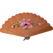 Beautiful Sandalwood Fan Painted Floral Design
