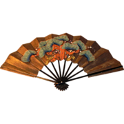 Japanese Fan Beautiful Design with Cherry Blossoms
