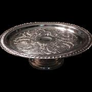 Leonard Silver Plate Pedestal Cake Stand