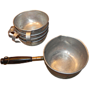 Copper Water Dipper and Four Aluminum Drinking Cups