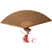 Sandalwood Fan from India 1960s