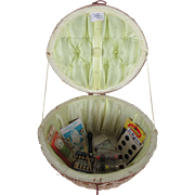 """""""An Exclusive Penney's Fashion"""" Sewing Basket  with Bobbin Box"""