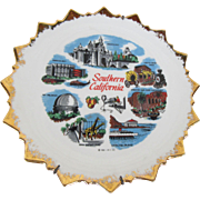 1961 Southern California Collectible Plate and Hanger