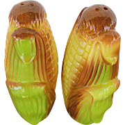 Corn Salt and Pepper Shakers Made in Japan