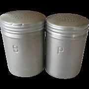 Range Top Aluminum Salt and Pepper Shakers