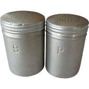 Range Top Aluminum Salt and Pepper Shakers