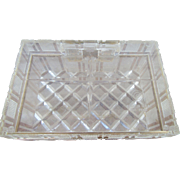 Lucite Vintage Trinket Box USA Made Diamond Pattern and Star