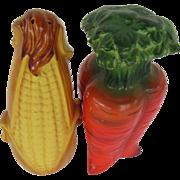 Vegetable Salt and Pepper Shakers: Corn & Carrot Japan
