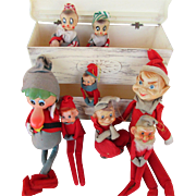 Eight Holiday Elves Ready For Christmas