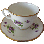 Royal Stewart Bone China England Purple Blossoms