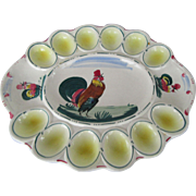 Chicken Egg Planter Hand Painted Italy