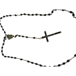 Vintage Rosary Light Weight Italian