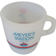 Meyer's Amoco Station Galaxy Oven Proof Mug 1989