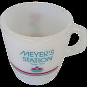 Meyer's Amoco Station Galaxy Oven Proof Mug 1989
