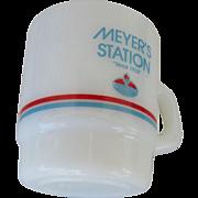 Meyer's Amoco Station Galaxy Oven Proof Mug 1990