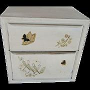 Vintage Bread Box with Decals 1950s Retro