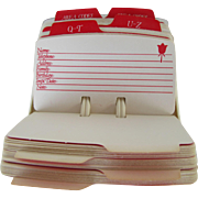 Avon Rolodex Cards for Desktop Use.