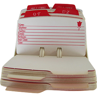 Avon Rolodex Cards for Desktop Use.