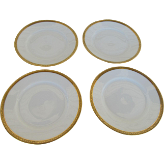 Theodore Haviland Limoges Monarch Pattern Bread and Butter Plates