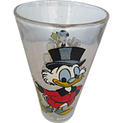"Uncle Scrooge Walt Disney Glass 1977 ""Happy Birthday Mickey"""