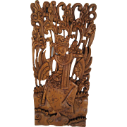 Balinese Wood Carving Lady Dancer Hand Carved 1973