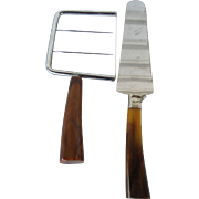 Bakelite Handle Cheese Slicer and Pastry Server