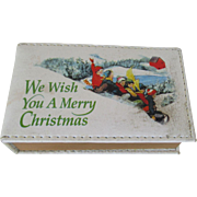 Christmas Music Box Tiny Book Animated Figures