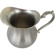 Early American Pewter Creamer by Web Pennsylvania