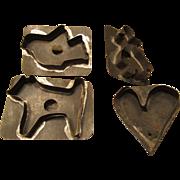 Vintage Tin Cookie Cutters Solder Handles