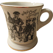 J & P Coats' Spool Cotton Mustache Cup/ Coffee Mustache