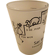 "MidCentury  Souvenir of Canada Shot Glass 4 oz. ""Say When!"""