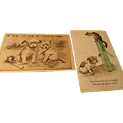 Vintage Cat and Dog Postcards 1900s