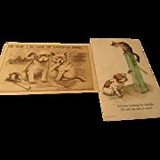 Vintage Cat and Dog Postcards 1900s