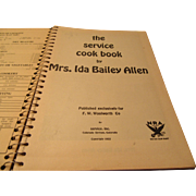 """The Service Cookbook"" by Ida Bailey Allen Number One"