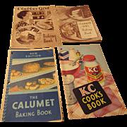 1930s 1940s Baking Powder Recipe Booklets for Homemade Treats