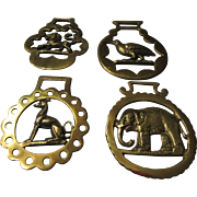 English Brass for Horses: Lion, Elephant, Greyhound, & Partridge