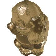 Goebel Western Germany Lead Crystal Dog Paper Weight