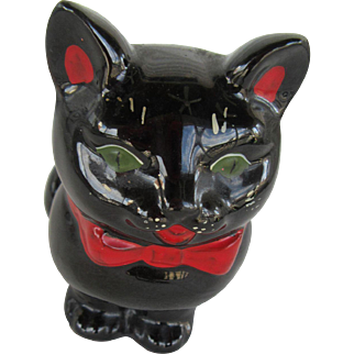 Pussy Cat Planter Stafford Red Ware Japan 1950ds